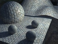 Cobble stone 5 textures collection with normal