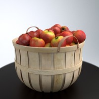 basket apples obj
