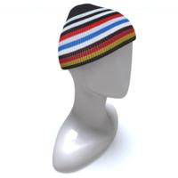 winter hat obj free