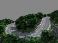 3d mountain road