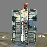 3d spaceship launch center