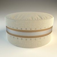 3d model olive ottoman