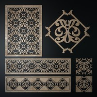 3d obj decorative laser cutting pattern