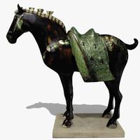 figurine horse statuettes obj