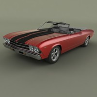 chevrolet chevelle convertible 3ds