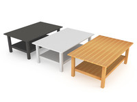 solid ikea coffee table 3d model