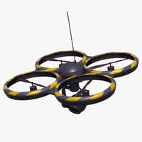 3d model quad drone