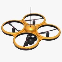 drone 3d obj