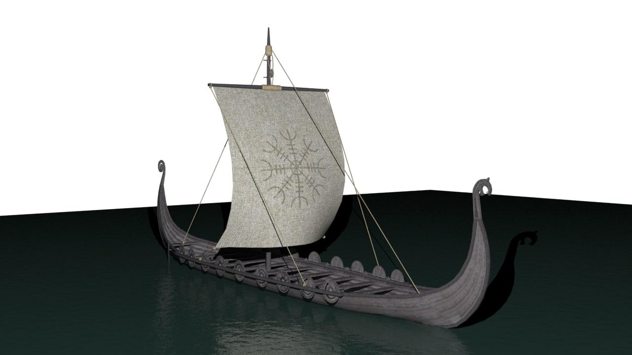 historical viking longship x free