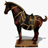 3d model of figurine horse statuettes