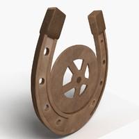 3d model horseshoe luck