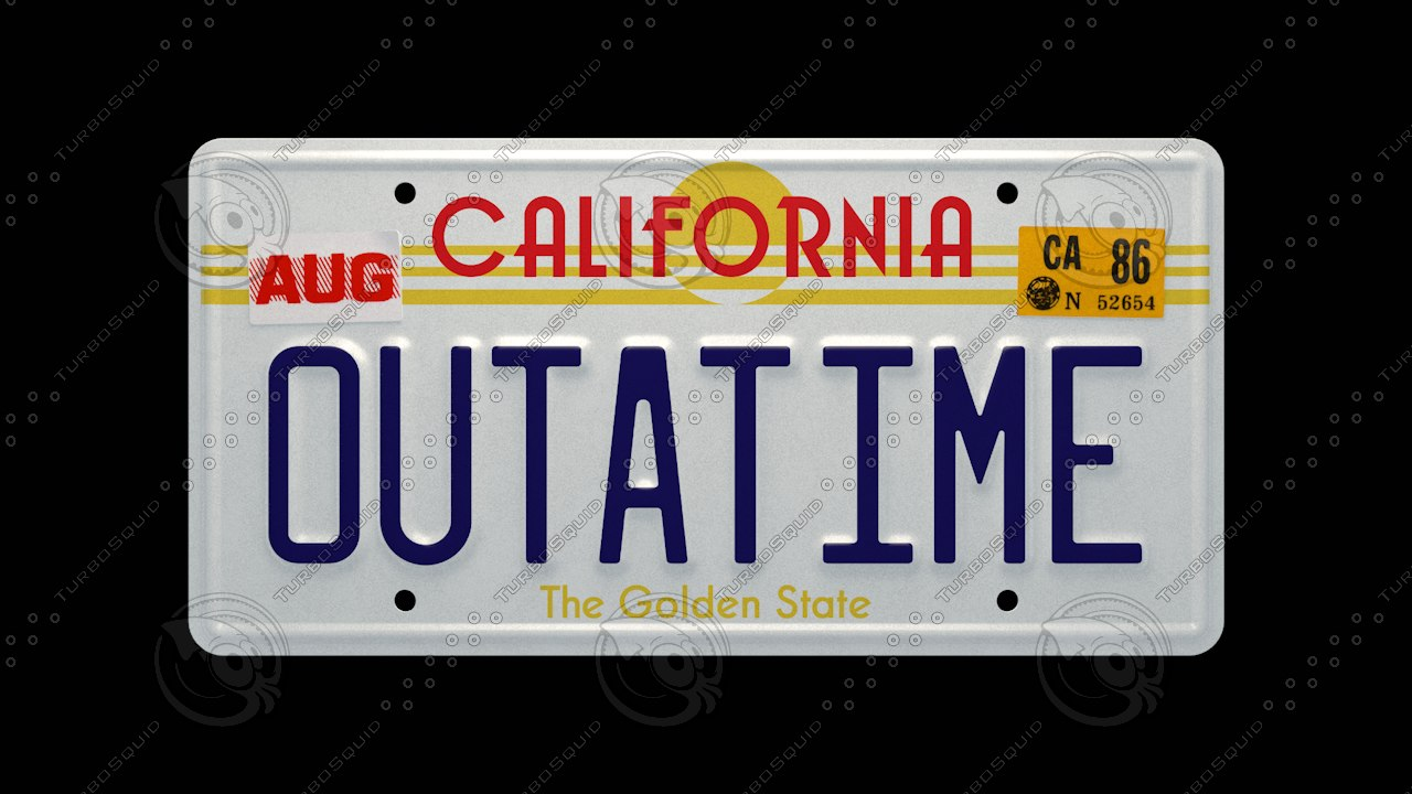Back to the Future License Plate