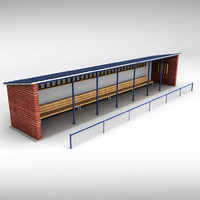 3ds max stadium baseball dugout