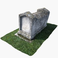 3d tombstone tomb model