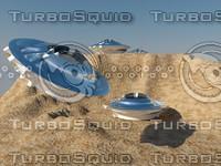 ufo desert scene 3ds