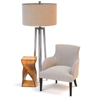maya occasional chair lamp