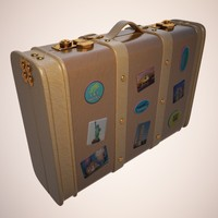 3d model of travel suitcase