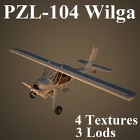 3d model of wilga air low-poly