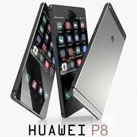 3d model huawei p8