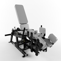 Low poly gym equipment abductor