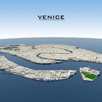 venice cityscape 3d max