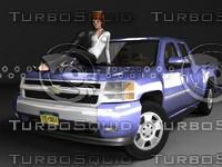 3d chevrolet silverado extcab gmt900