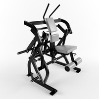 Low poly gym equipment Abdominal Oblique Crunch