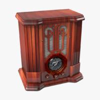 3d model retro radio