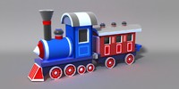3d model cartoon train