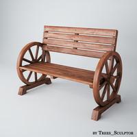 3ds max garden bench