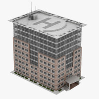 3d office building 02