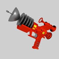retro futuristic raygun 3d model