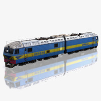 3d model locomotive de1 ukraine