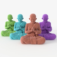 3d model figurine buddha velvet