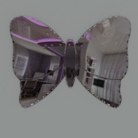 mirror bathroom butterfly fbx