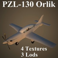 3d orlik air low-poly model
