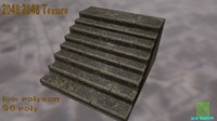 3d stairs rock model