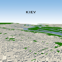 3d kiev cityscape model