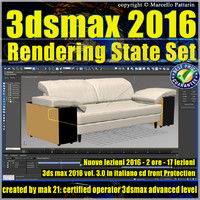 3ds max 2016 Rendering State Set vol. 3 CD Front