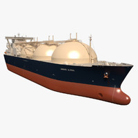 3d model lng tanker ship grand