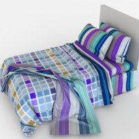 3d max children bed linen