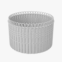 3d model of wicker basket v1