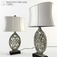 max uttermost barela silver table lamp