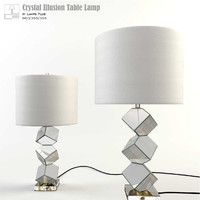 3d lamps crystal illusion glass table