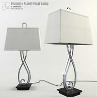 uttermost ferndale scroll metal 3d model