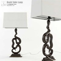 3d model arteriors heath table lamp