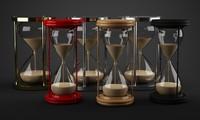 sand timer 3d model