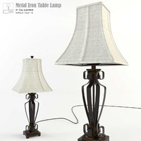 cal lighting metal table lamp 3d max