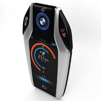 3d smart key fob model