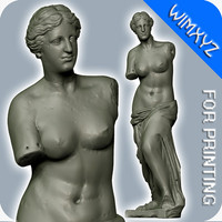 3d venus milo sculpture